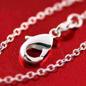 Necklace-Real-925-Sterling-Silver-S-F-Solid-Fine-Link-Pendant-Charm-Chain-18-034