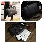 Men PU Leather Business Briefcase Shoulder Messenger Laptop Bag Women Handbag
