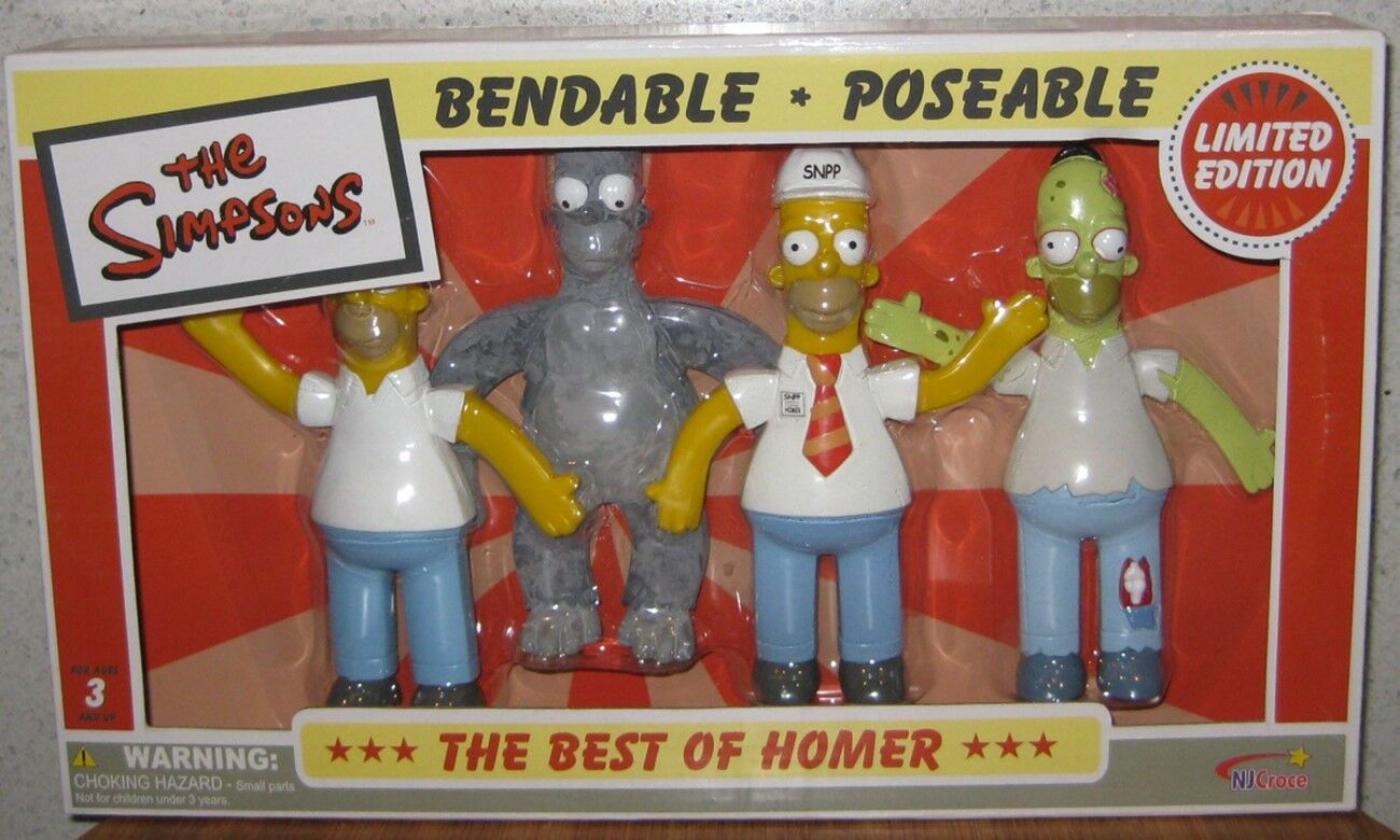 THE SIMPSONS BENDABLE POSEABLE THE BEST OF HOMER , LIMITED EDITION MIB