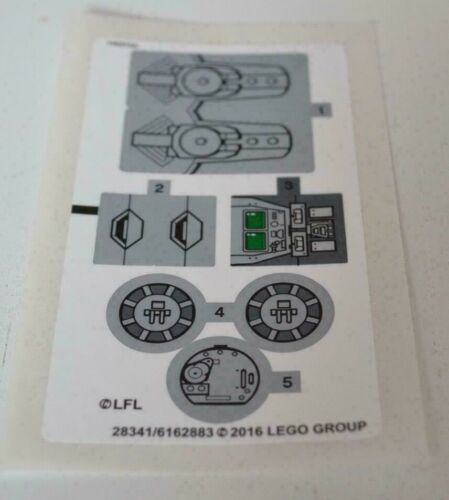 New Genuine LEGO® Sticker Sheet For Set 75153 AT-ST