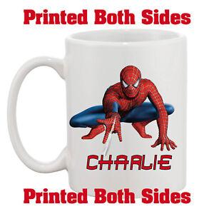 Personalised-Spiderman-Your-Name-10oz-Mug-Kids-Adults-Birthday-Gift