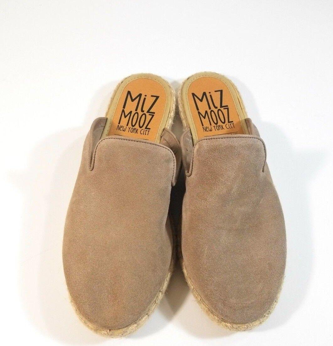 Miz Mooz New York Women shoes Tan Brown Slip On Slides Espadrille Mules Size 40