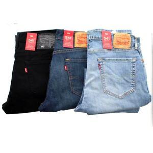 Levi Strauss Levi S 541 Para Hombre Ajuste Atletico 2 Way Stretch Confort Blue Jeans Pantalones Ebay