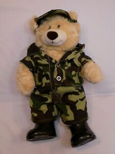 The-Build-a-Bear-Plush-GI-Joe-Army-Camouflage-Uniform-Shoes-Dog-Tag-Hat-Set-LOT
