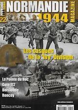 NORMANDIE 1944 N° 22 / LES CASQUES DE LA IVY DIVISION - LA POINTE DU HOC