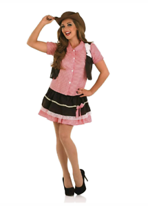 Short-Sexy-Cute-Cowgirl-Wild-West-Size-Large-Ladies-Fancy-Dress-Costume