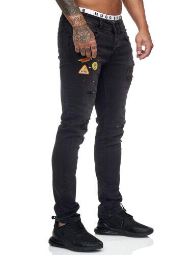 Jeans Hose Designer Regular Skinny Fit Jeanshose Basic Stretch Herren