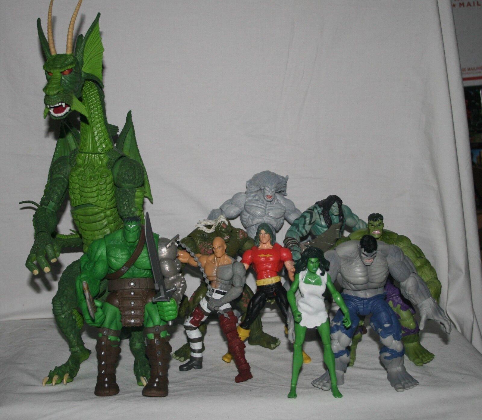 Marvel legends series 2008 BAF Fing Fan Foom complete set regular and variants