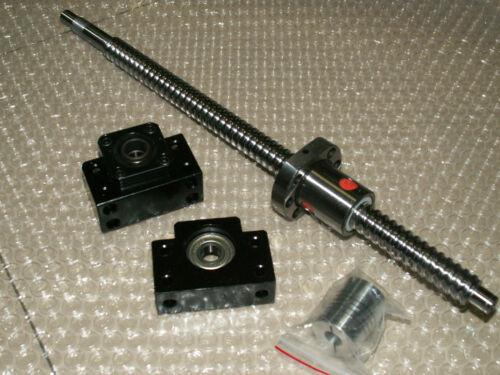 1 anti backlash 25mm ballscrew RM2505-550mm-C7+BK//BF15 bearing end support CNC