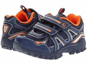Image is loading Stride-Rite-Bronco-Toddler-Boys-Shoes-Navy-Orange