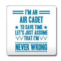 Sky Blue Never Wrong Air Cadet Funny Gift Idea Coaster 006