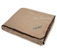 PURE SOLID  WOOL, FLAX BLANKET / WOOL blanket/  Twin, Full, Queen SIZE