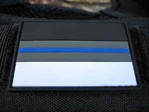 Klettpatch-Rubberpatch-ca-6-x-4cm-thin-blue-line-Deutschland-night-camo-Polizei