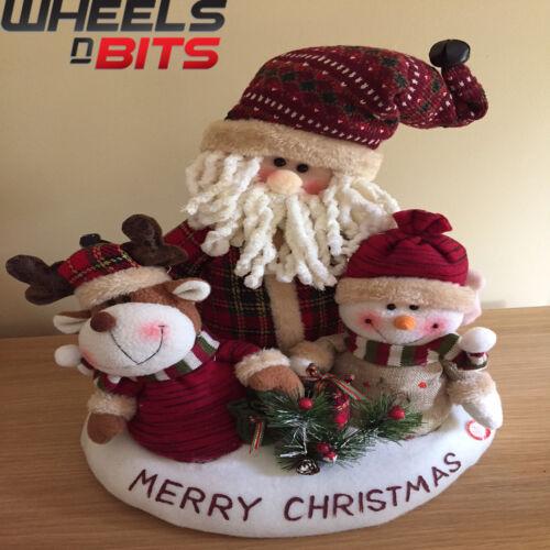 15x15 pouces chant danse Moving Animated Santa Claus Snow Homme Renne 452