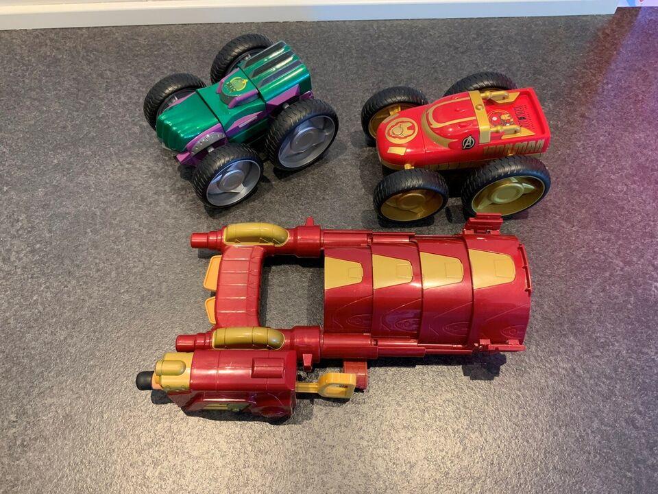 Ironman og hulk biler m.m, Marvel