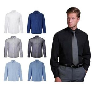 Mens-Long-Sleeve-Premium-Formal-Oxford-Shirt-in-All-Sizes-amp-Colours-UNEEK-701