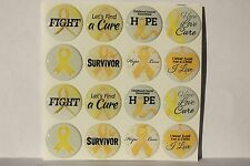 CHILDHOOD CANCER AWARENESS RIBBON Epoxy Sticker 1inch round 4 Bottle Cap  Craft 47755365bad1