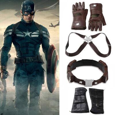 Captain America Retro Gloves Winter Soldier Halloween Adult Costume Accessory