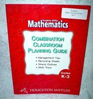 Houghton Mifflin K-3rd Grade K 1 2 3 Math Mathematics Planning Guide Homeschool