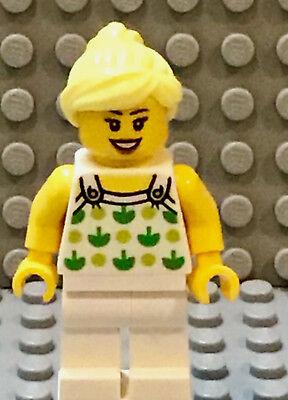 Lego Minifig Mädchen Weiblich Trägertop Grün Druck Mit Weißem Beine & Blond Baukästen & Konstruktion