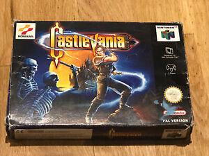 Castlevania Nintendo 64 N64 Pal En Caja Y Completo Para Coleccionistas Excelente Estado