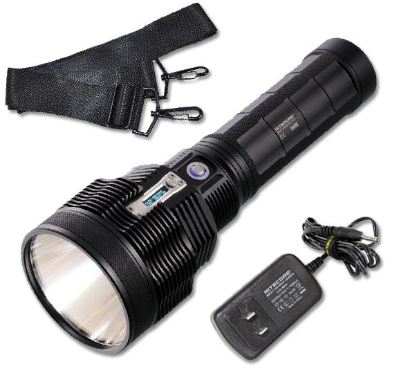 Nitecore TM36 1200 yard throw Flashlight with NBP52, Carrier Strap & Charger