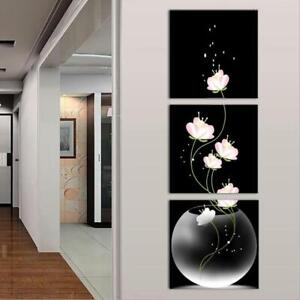 Details about SS358 Modern Wall decor HD Printed canvas oil painting  3Pcs/set FLOWER Tulips