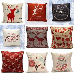 CO-KQ-Christmas-Linen-Cushion-Cover-Throw-Pillow-Case-Home-Decor-Festive-Gift