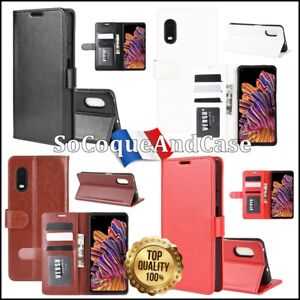 Etui-housse-coque-Crazy-Horse-Stand-Wallet-Case-Cover-Samsung-Galaxy-XCover-Pro