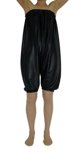 LATTICE Silicone Pantaloni Mutandoni Sissy Giocare Suit Matt Black Romper Pantaloni corti XL XXL