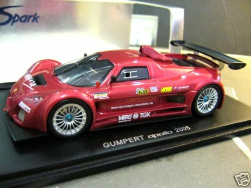 Gumpert Apollo 2005 rojo rojo metalizado audi v8 Spark resin 1 43