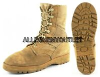 US Military HOT WEATHER COMBAT BOOTS Vibram Sole Desert Tan USA Made EXC 6 XW