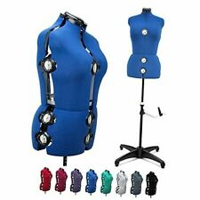 13 Dials Female Fabric Adjustable Mannequin Dress Form For Sewing Blue