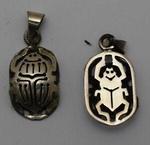 Hallmark egyptian egipto gypten pharaoh silver scarab image is loading hallmark egyptian egipto agypten pharaoh silver scarab pendant aloadofball Gallery