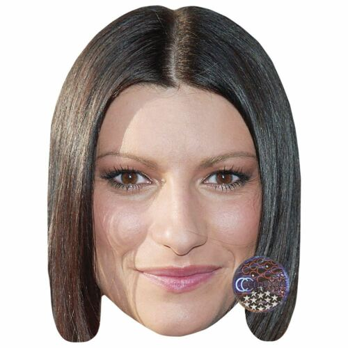 Card Face and Fancy Dress Mask Laura Pausini Celebrity Mask