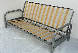 Image Is Loading Clic Clac Double Metal Futon Sofabed Frame Silver