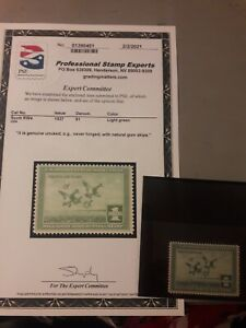 INCREDIBLE 1938 US DUCK Stamp RW#4 MINT ORIGINAL GUM, UNHINGED *PSE CERTIFICATE*