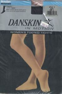 Danskin-in-Motion-Women-039-s-Footed-Tights-Style-72-Black-Size-A-Opaque-New