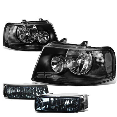 FOR 03-06 FORD U222 CHROME CLEAR HEADLIGHT+TURN SIGNAL LAMP+OE BUMPER FOG LIGHT