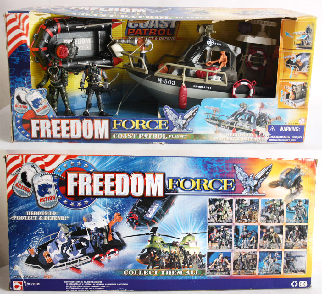 VERY RARE CHAP MEI FREEDOM FORCE COAST PATROL PLAYSET NAVY SEALS G I JOE NEW MIB