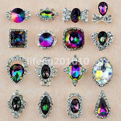 5PCS  Glitter Nails Charms Jewelry Alloy 3D Nail Art Decoration Rhinestones Gem