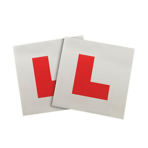 2-STRONG-MAGNETIC-L-PLATES-LEARNER-PLATES-PAIR-CAR-MOTORCYCLE-SCOOTER-ATV-MOPED