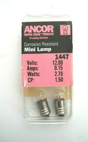 2 Pack of Ancor Marine Grade 12 volt 2.70 watt Light Bulbs #1447