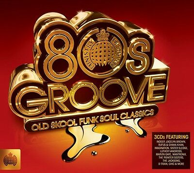 MINISTRY OF SOUND : 80'S GROOVE - VARIOUS - 3 CD SET - CHIC / FREEEZ / MTUNE +