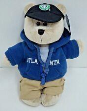 "Starbucks Hotlanta Atlanta Bearista Bear Plush Sweatshirt Hat Teddy 10"" 2007 NEW"
