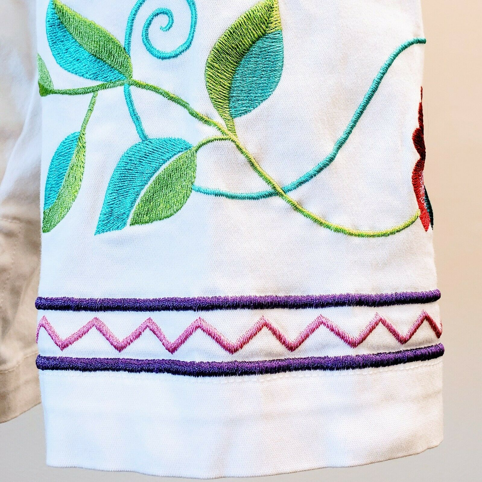 DENIM & CO. Embroidered Cotton Jacket please see … - image 5