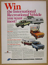 1973 IH International Scout Travelall & Camper Pickup Monitor Trailers print Ad
