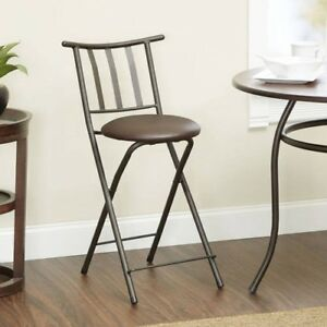 Admirable Details About Folding Counter Height Stool 24 Espresso Bar Dining Kitchen Chair Furniture Alphanode Cool Chair Designs And Ideas Alphanodeonline