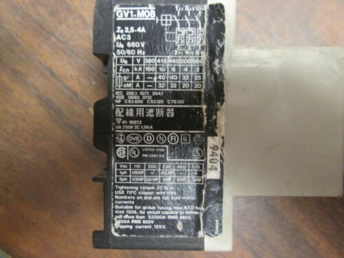 2.5-4A Used Telemecanique Manual Motor Starter GV1-M08 Range