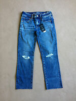 American Eagle Women's Straight Crop Stretch Jeans -size 6 Regular Or Long -